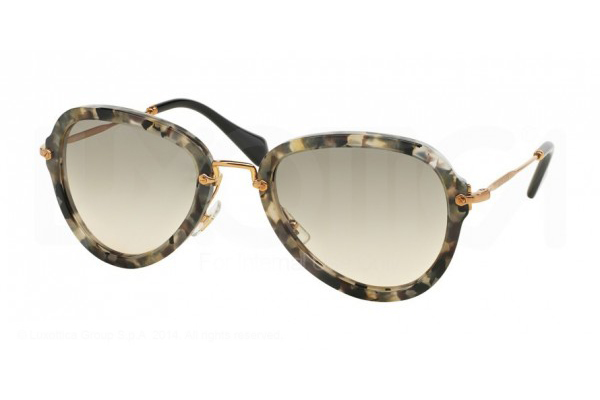 MIU MIU 03QS in havana marble white/black