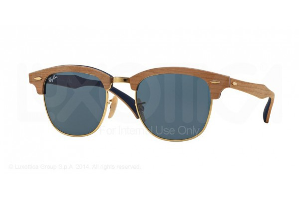 RAY-BAN 3016M CLUBMASTER IN CHERRY RUBBER BLUE