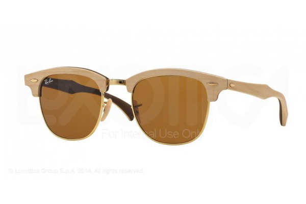 RAY-BAN 3016M CLUBMASTER IN MAPLE RUBBER BROWN