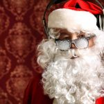 Santa with sunglasses