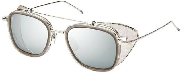 THOM BROWNE TB-808 |B Satin Crystal Grey-Silver| Dark Grey-Silver Mirror