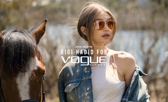 Vogue Eyewear Special Collection designed by Gigi Hadid