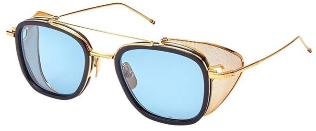 THOM BROWNE TB-808 | C Navy-Yellow Gold | Dark Blue-Black Flash